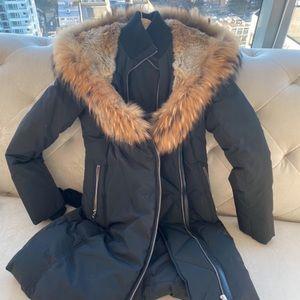 Mackage adali natural coat down fur. Women size small